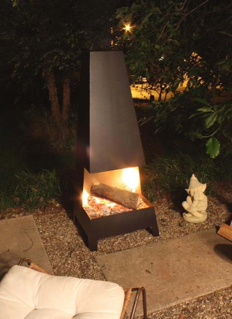 Chiminea Etsy Fire pit, Outdoor fire pit designs