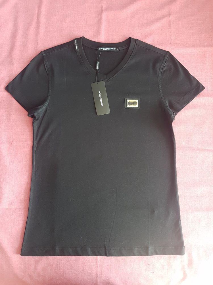 9cfe9e24f9bb FINAL PIECE SALE DOLCE & GABBANA T-shirt D&G shirt BLACK NWT men 100 ...