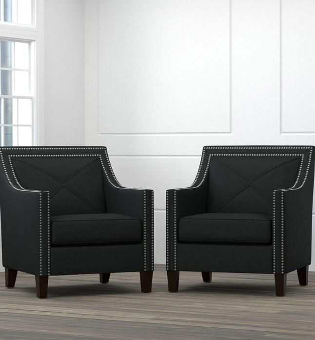 Victor Fabric Accent Chairs Are Sleek And Comfortable With