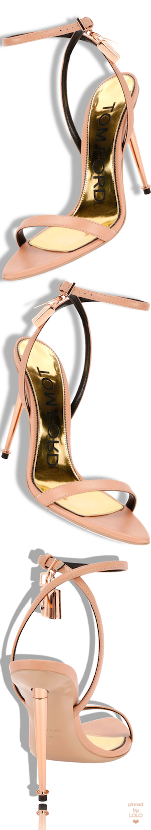 ea780124086 TOM FORD Lock Ankle-Wrap Soft Calf Leather Sandal  tomford ...