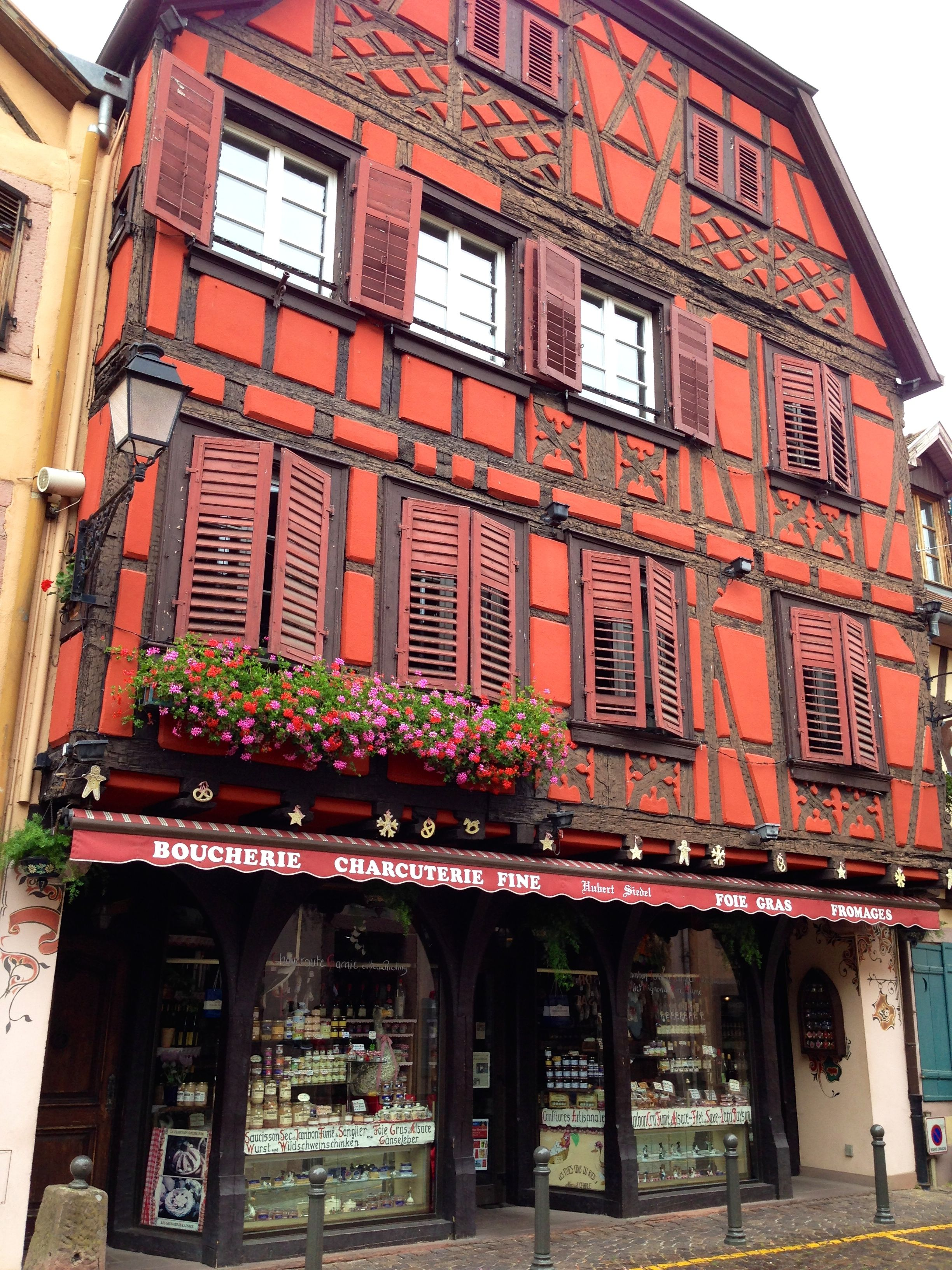 1/2 timbered house in Ribeauvillé, France
