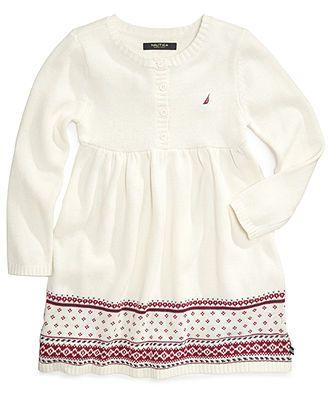 Nautica Girls Dress, Little Girls Fair Isle Sweater Dress   sweet ...