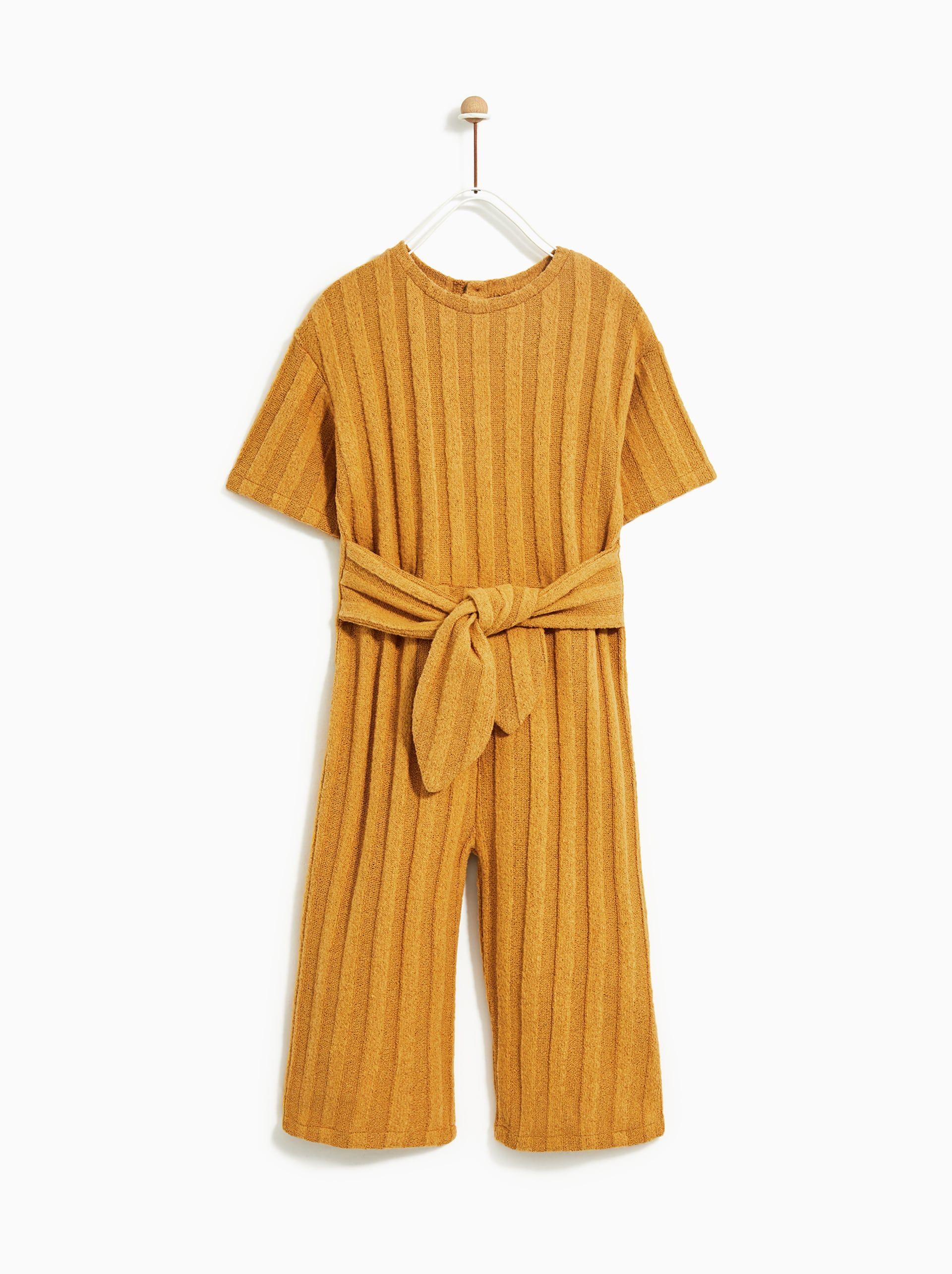 214e2d3d Ribbed culotte jumpsuit en 2019 | G I R L S | Zara kids dresses ...