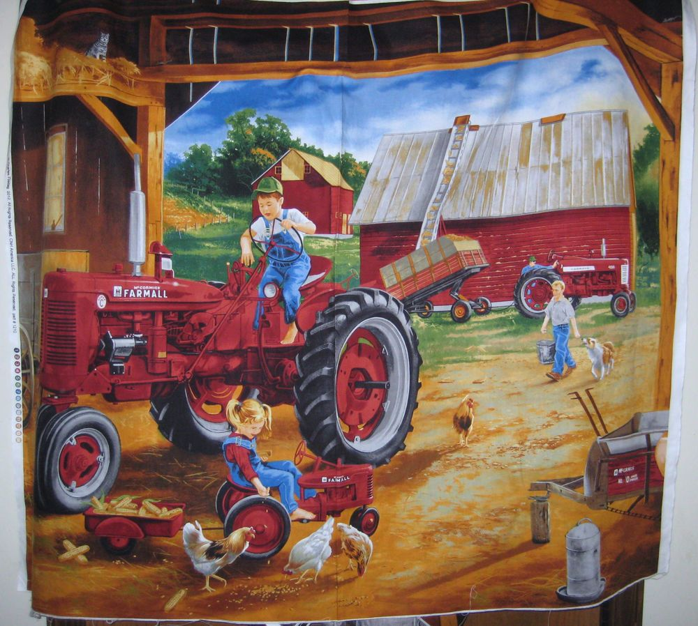 Mccormick Farmall International Harvester Panel Red Tractor Toy