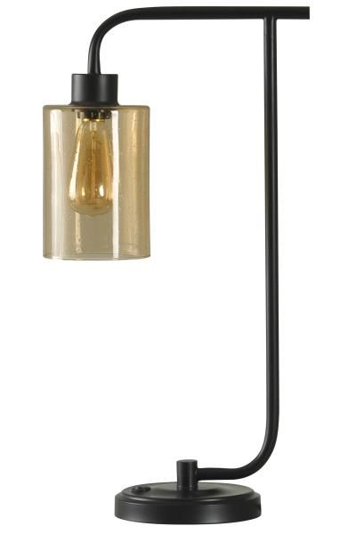 Stylecraft Home Collection, Inc. Amber Desk Lamp Seeded Amber Glass With  Edison Bulb U0026 Bronze Metal Desk Lamp