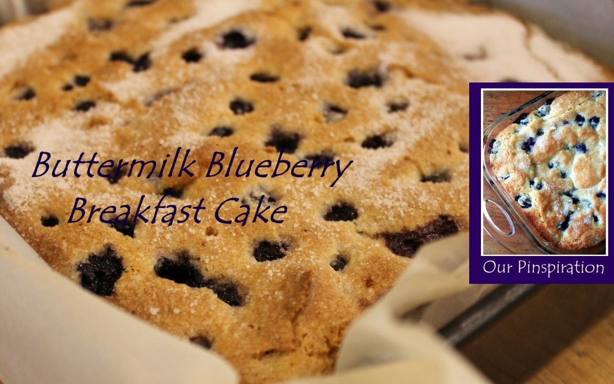Buttermilk Blueberry Breakfast Cake - Better Batter Gluten Free Flour