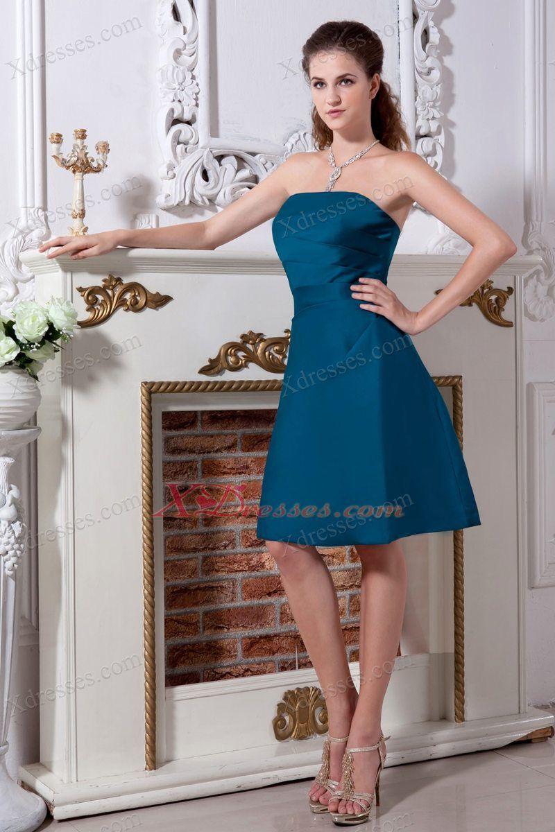 Peacock Knee Length Prom Dresses