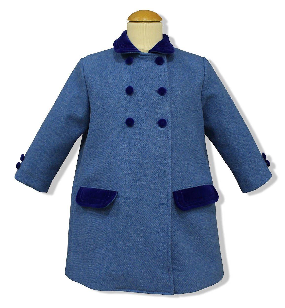Abrigo Infantil Unisex Modelo Clásico Inglés En Paño Azul Con Etsy Abrigos Ropa Terciopelo Azul