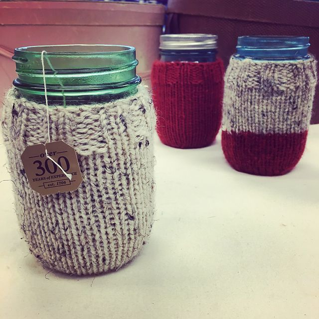 Do you use Mason jars as cups? Don\'t miss this pattern! | Knit Love ...