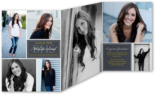 Simple Snapshots 5x7 Tri Fold Stationery Card By Yours Truly
