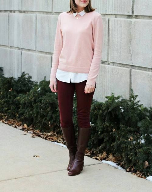 178285aa024 How to wear pink with burgundy – Just Trendy Girls