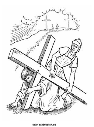 ausmalbild ostern jesus 05 in 2020 | ausmalbilder ostern, jesus malvorlagen, wenn du mal buch