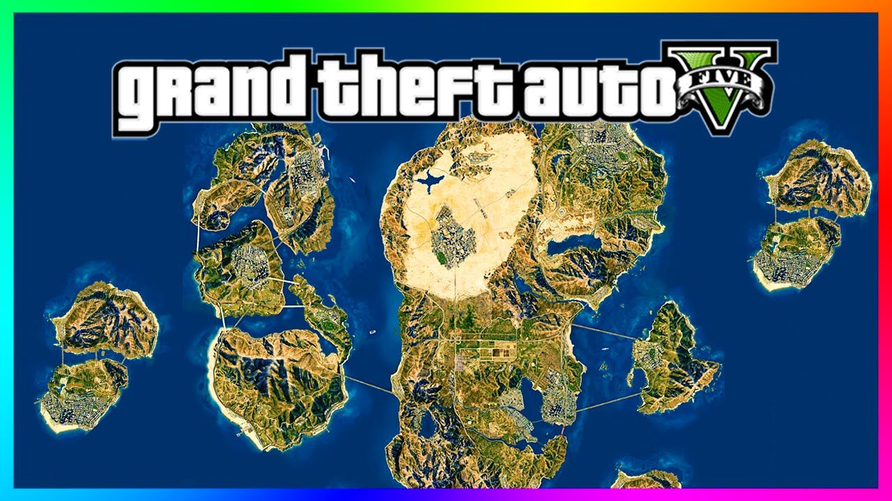 Awesome Gta 5 Mega World Concept Map 8x Size Of Current Los Santos Map Gta 5 Gameplay Gta Concept Map Fantasy Map