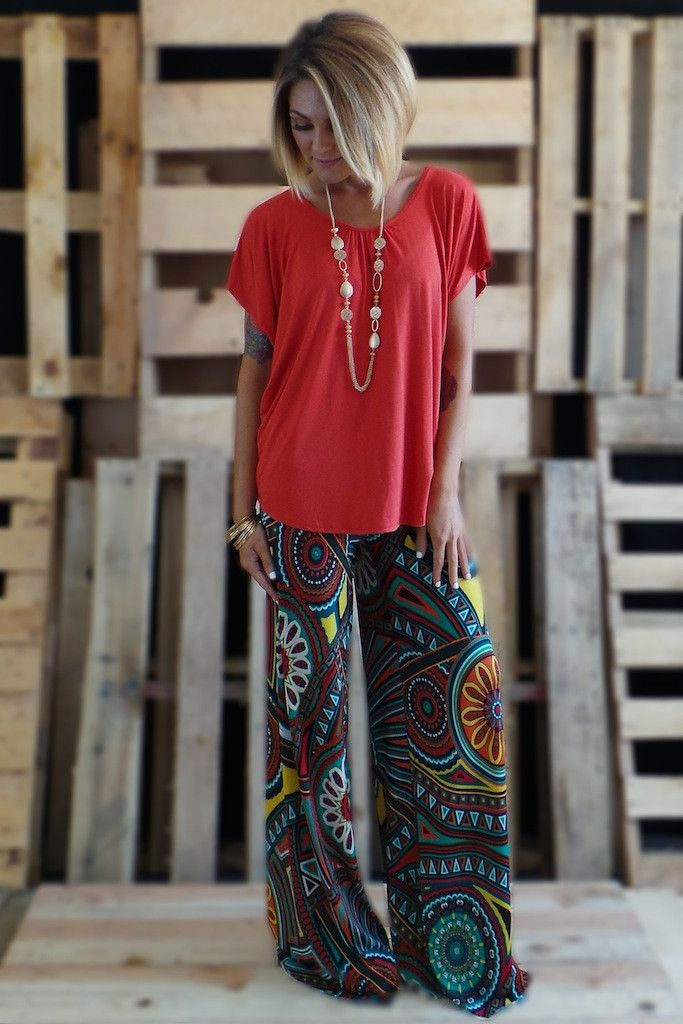 fine palazzo pants outfit casual 13