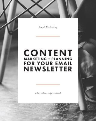 The who, what, where, why, and how of crafting an email newsletter for your blog or creative business