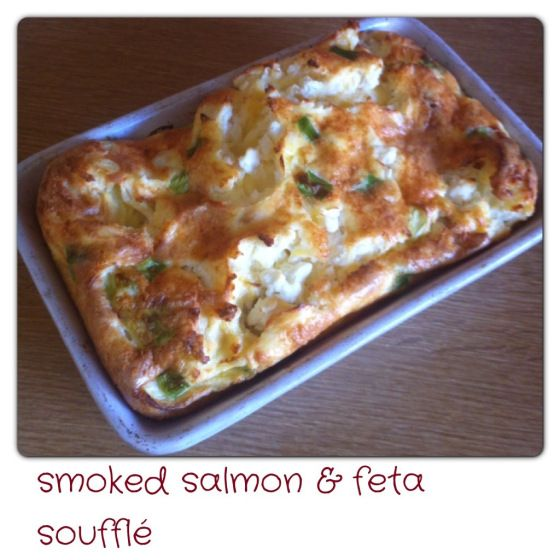 Smoked Salmon & Feta Souffle