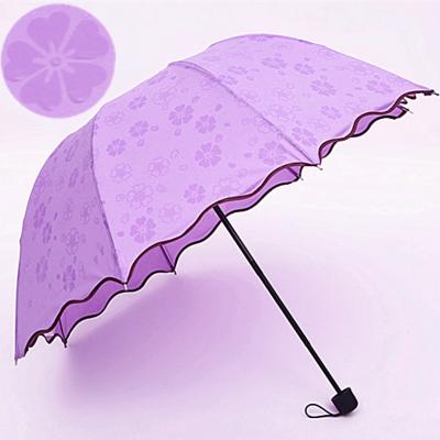 Special Rose Umbrella Romantic Three Folding Classic Automatic Umbrellas Men Women Parasol