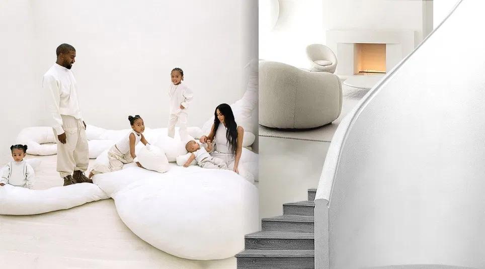 Inside Kim Kardashian And Kanye West S Very White Very Clean 60m Mansion In 2020 Kim Kardashian And Kanye Kanye West Kardashian