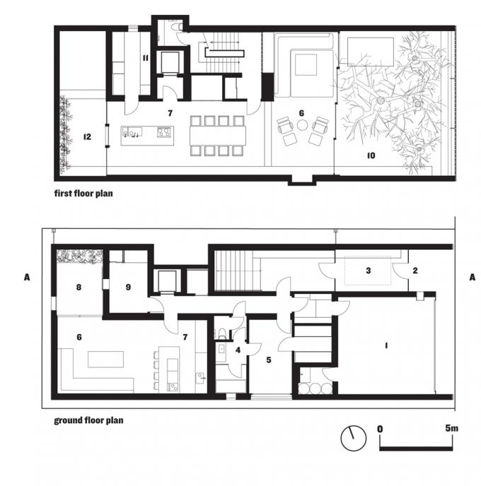 Plans Optical Glass House by Hiroshi Nakamura Hiroshima Japan