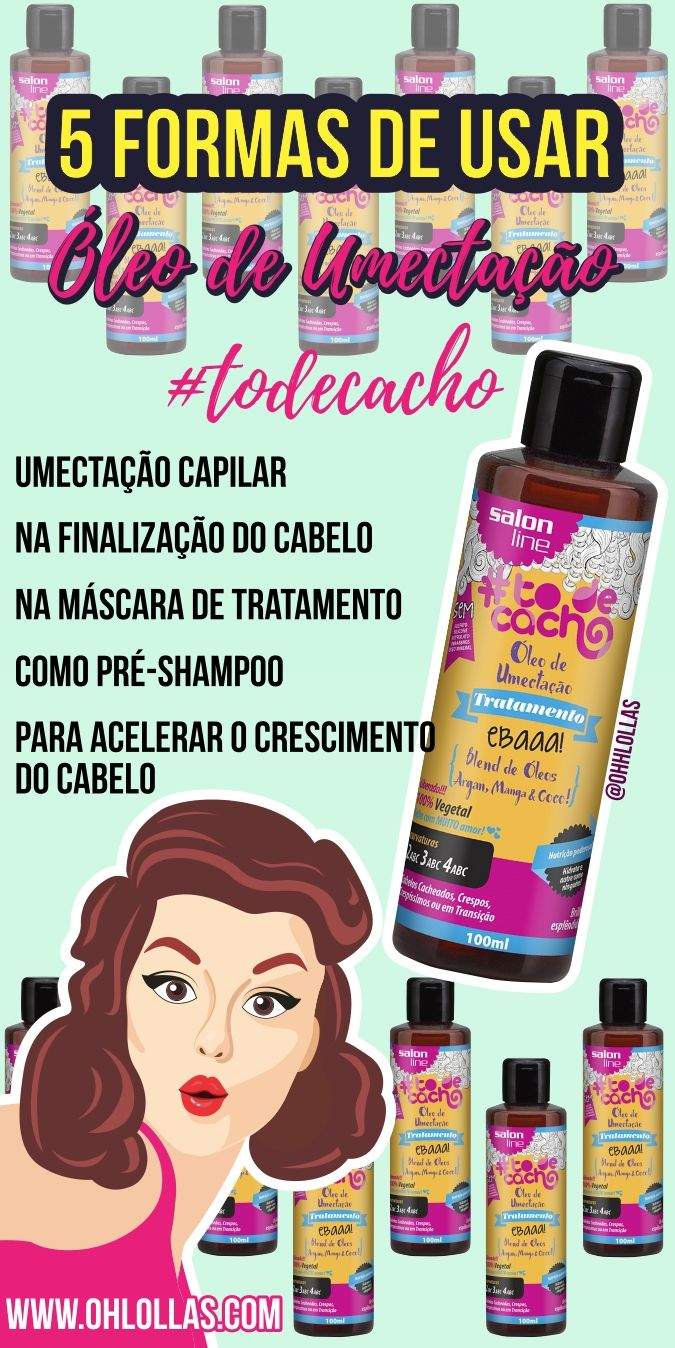 2f026faa4 Resenha Óleo de Umectação Ebaaa #todecacho Salon Line. Blend de óleos  argan, manga