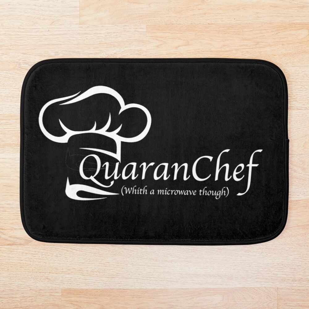 Quaranchef Funny Cooking Close Your Eyes And Imagine Yourself A Master Chef Bath Mat By Mustafighter In 2020 Cooking Humor Masterchef Close Your Eyes