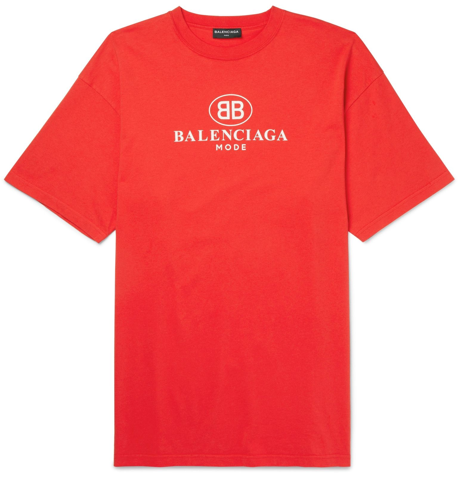 cb77121c Balenciaga's T-shirt is printed with the label's iconic mirrored double 'B'  logo – first used by the label in the '70s and now synonymous with Creative  ...