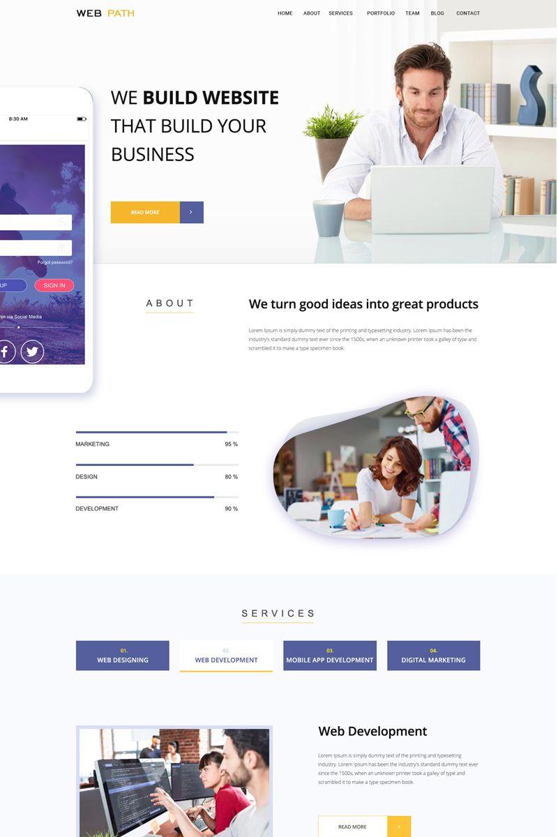 Web Profile Design Idea Webpage Design Simple Web Design Profile Design