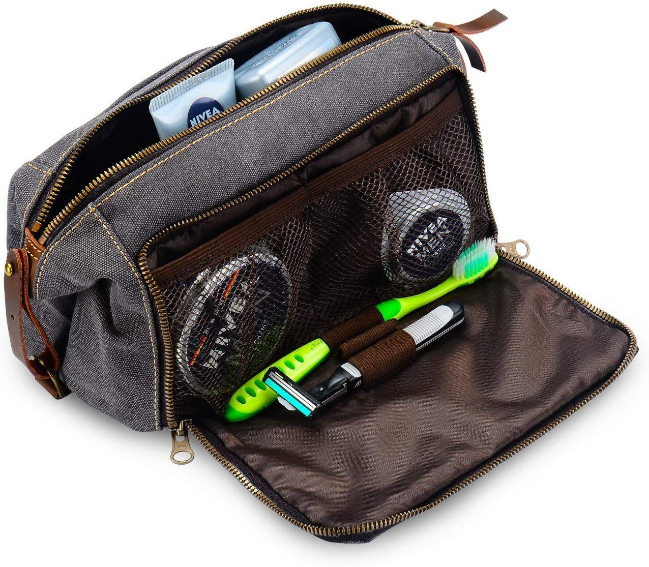 DOPP Kit Mens Toiletry Travel Bag YKK Zipper