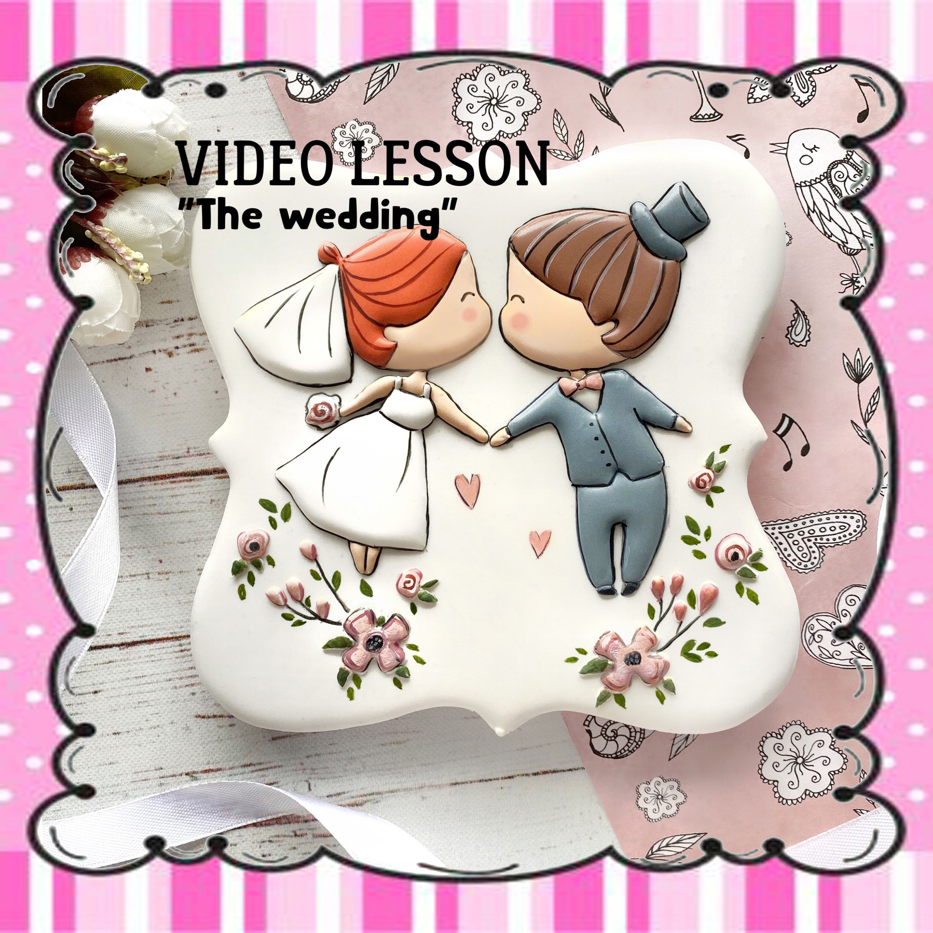 The Wedding Online Cookie Decorating Class Step By Step Video Etsy In 2020 Cookie Decorating Online Wedding Etsy Handmade