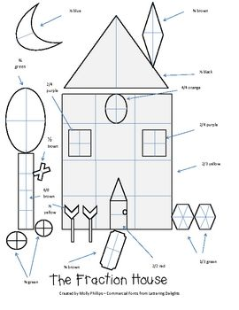 this is a fun fraction worksheet where students will color the sheet  this is a fun fraction worksheet where students will color the sheet based  on the fractions given after they follow the directions you could allo