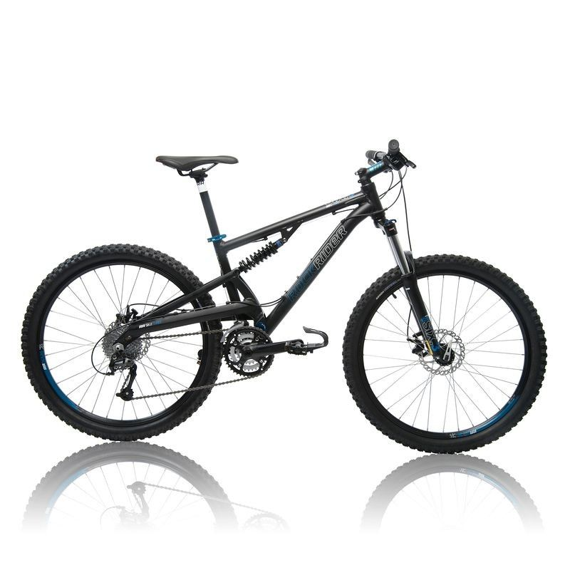 vtt rockrider 6 3 tout suspendu b 39 twin prix promo decathlon 399 95 ttc bons plans pas cher. Black Bedroom Furniture Sets. Home Design Ideas