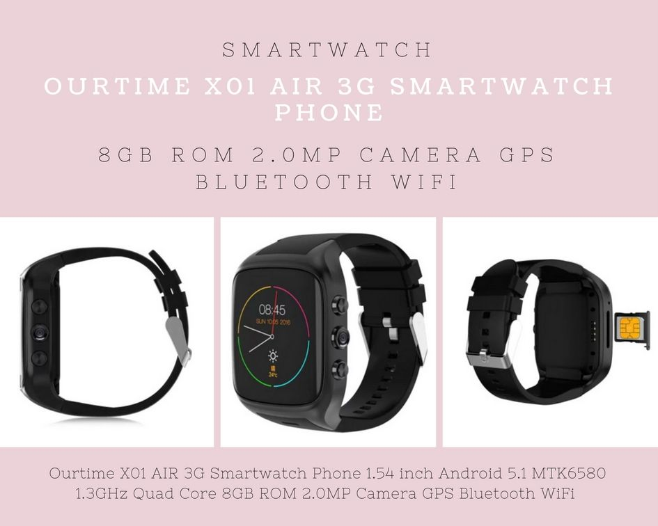 Ourtime X01 AIR Black Smart Watch Phone Sale, Price & Reviews