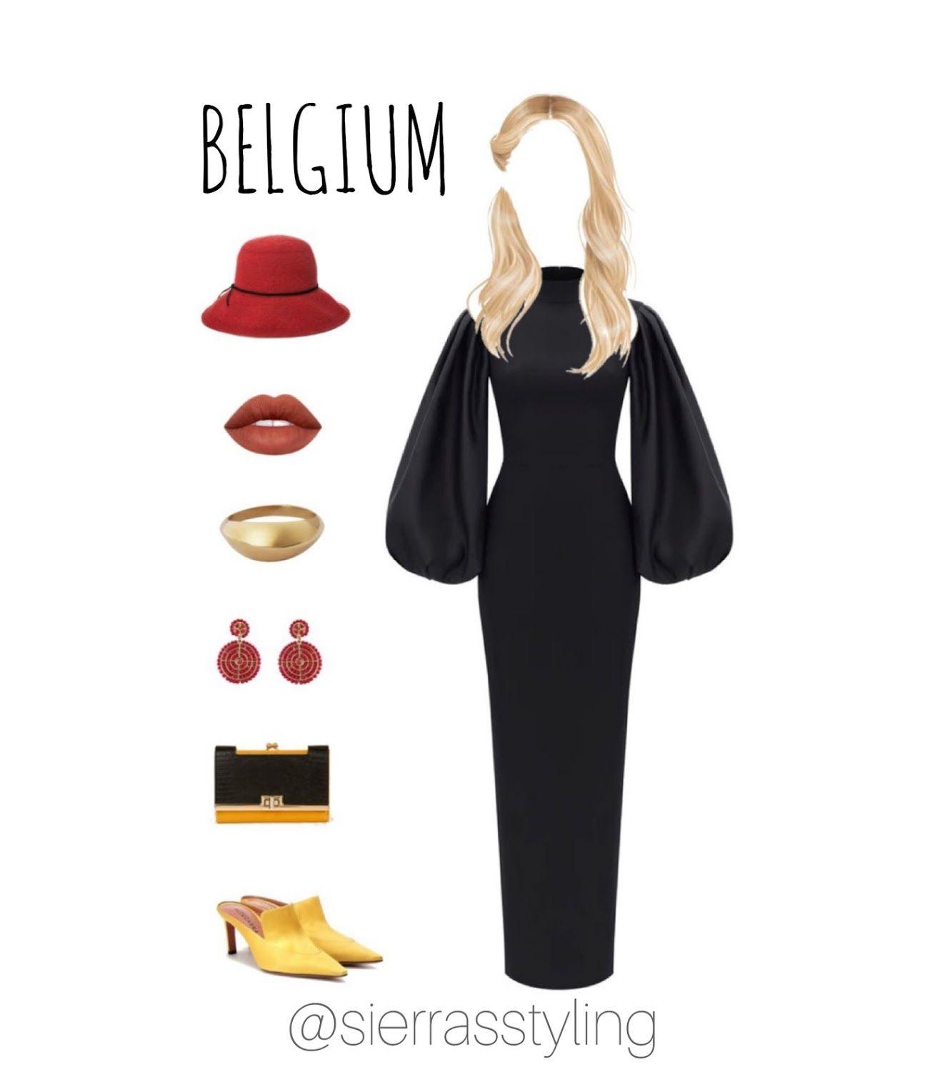 Belgium Dress With Accessories Virtual Fashion Online Stylist Virtual Stylist [ 1515 x 1323 Pixel ]