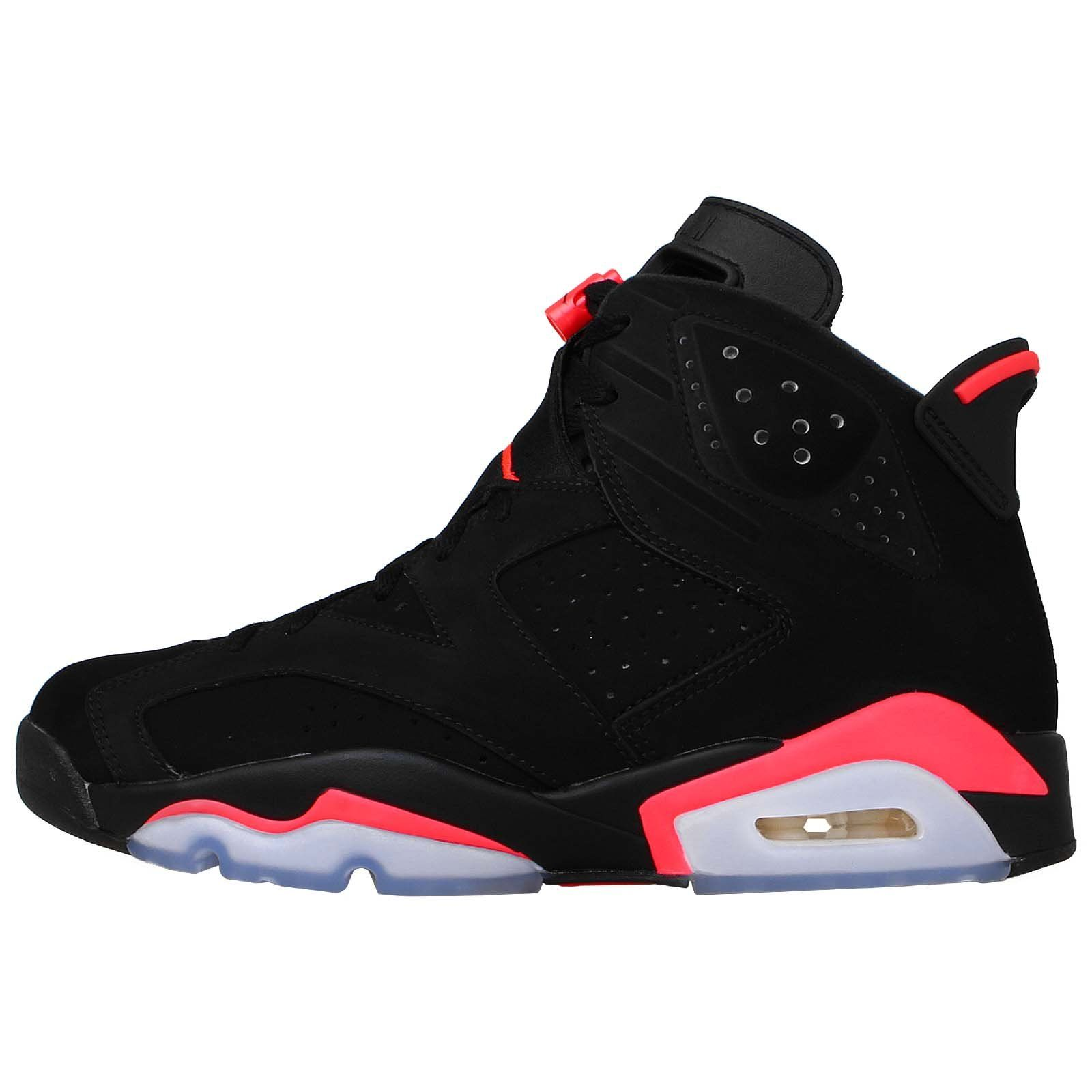 0d1b203d987fa1 ... coupon for nike mens air jordan 6 retro infrared black infrared 23  suede basketball shoes size