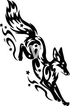 Fox Design Google Search Fox Tattoo Design Tribal Tattoo Designs Tribal Drawings