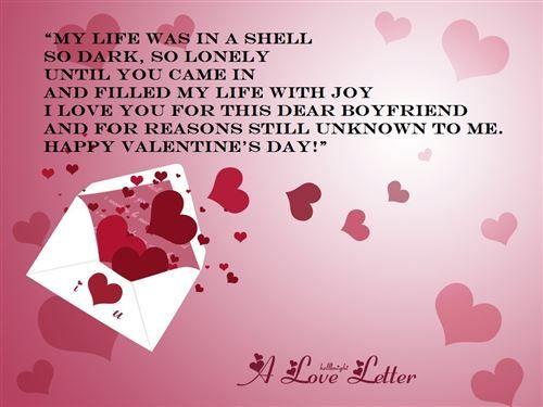 Happy valentines day messages for boyfriend valentine 39 s for Valentine notes for her