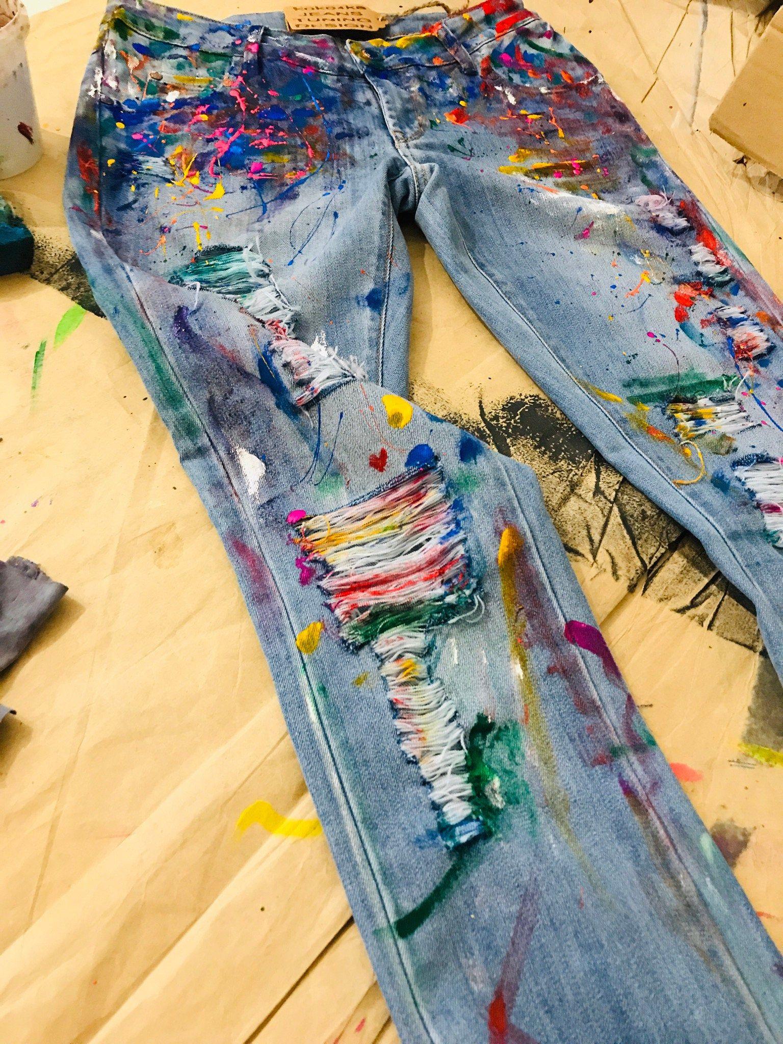 Paint Splatter Jeans Spray Paint Clothing Blots Jeans Spray Paint Paint Splatter Jeans Festival Clothing Boho Jeans Art Jeans Wearable Art Paint Splatter Jeans Painted Clothes Hand Painted Clothing [ 2048 x 1536 Pixel ]