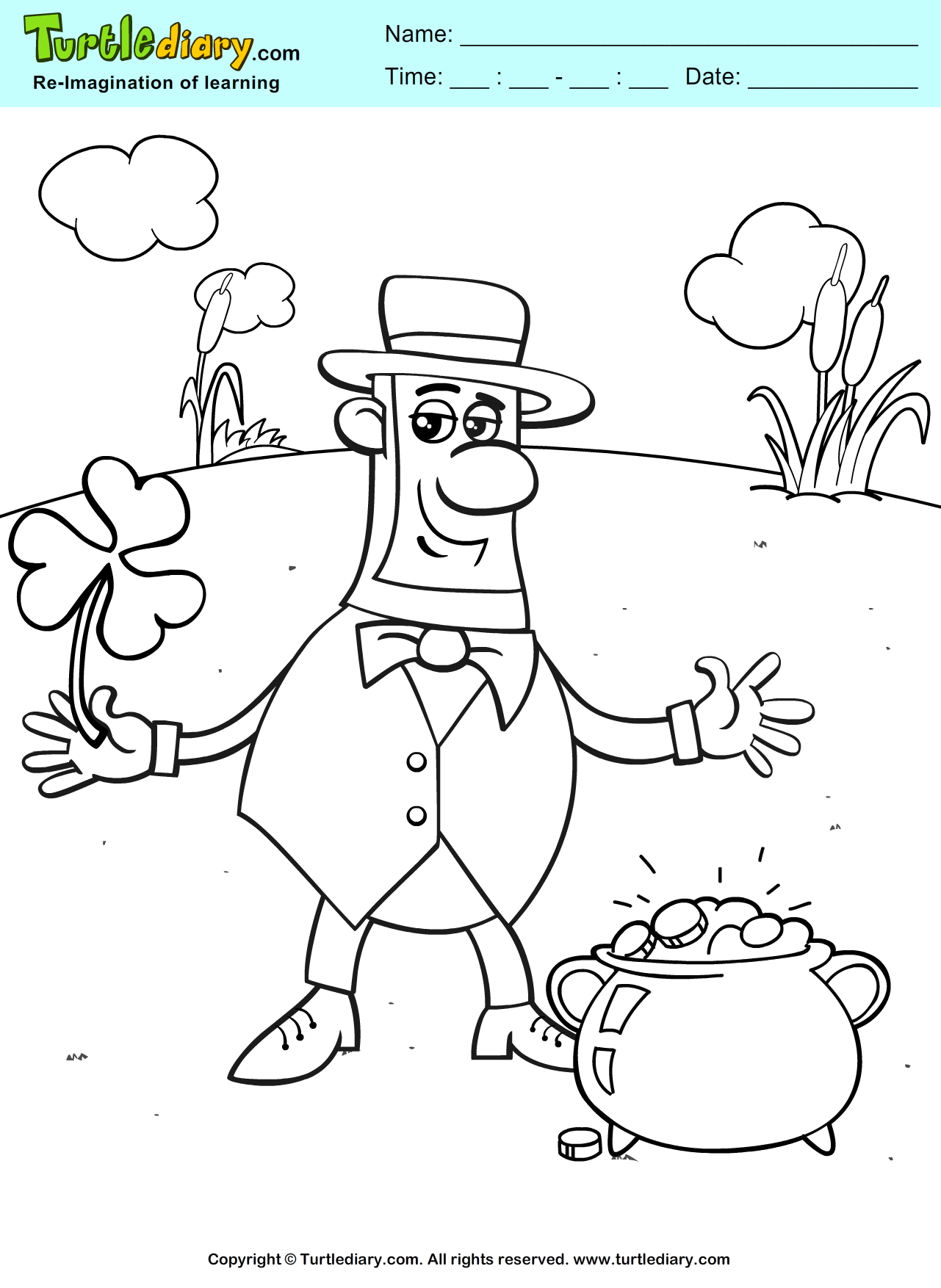 St. Patrick\'s Day Leprechaun Coloring Page #Kids #Crafts #Coloring ...