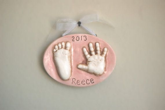 Kids gift baby hand and footprint in ceramic for personalized kids gift baby hand and footprint in ceramic for personalized baby gift maternity gift new mom gift hand prints for child prints negle Gallery