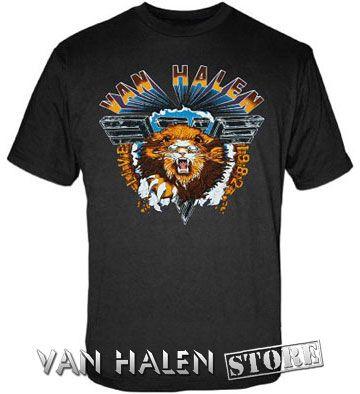 Van Halen 1982 Lion Tour Shirt | Clothes | Shirts, Van halen