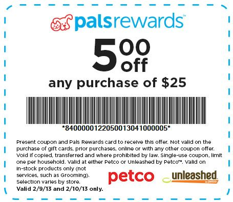 Petco 5 Off 25 Printable Coupon Printable Coupons Coupons Petco