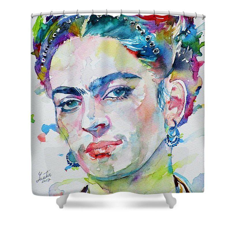 Frida Kahlo Shower Curtain Featuring The Painting Frida Kahlo
