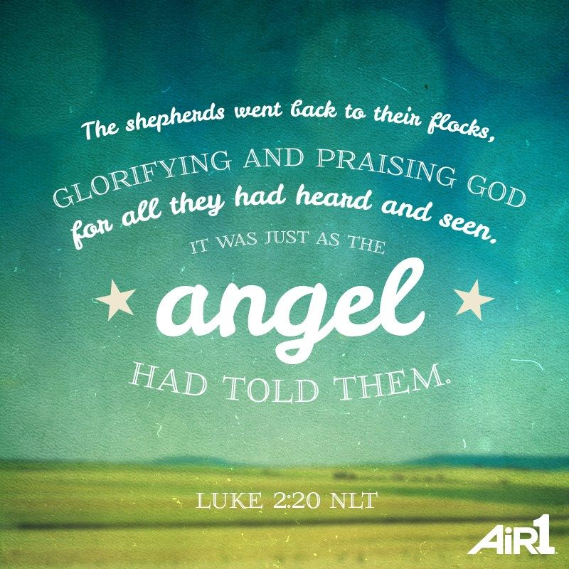 Superieur Bible Verse Of The Day Http://www.air1.com/Faith. Luke 2The AngelChristmas  ...