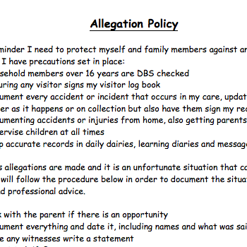 Allegation policy childminder policies pinterest explore these ideas and much more maxwellsz