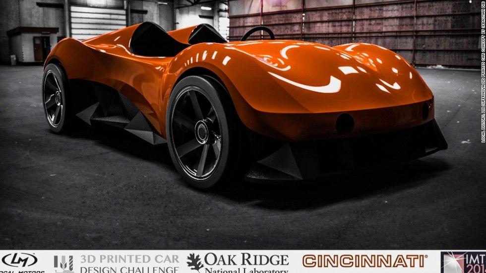 Futuristic drive Step inside a 3D printed car Car, 3d