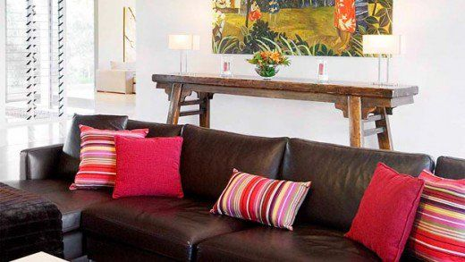How To Decorate Your Living Room With Cushions Brown Sofa Decor