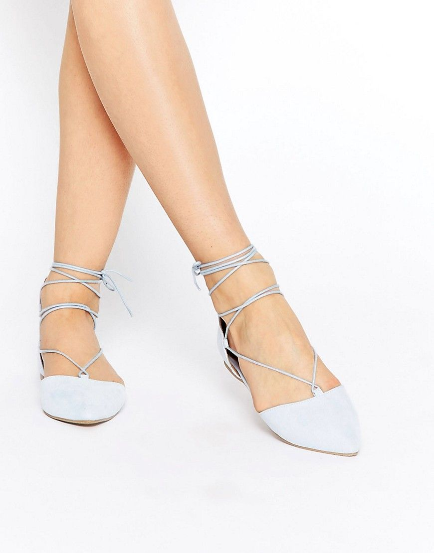 Lace Up Ghillie Flat Shoes