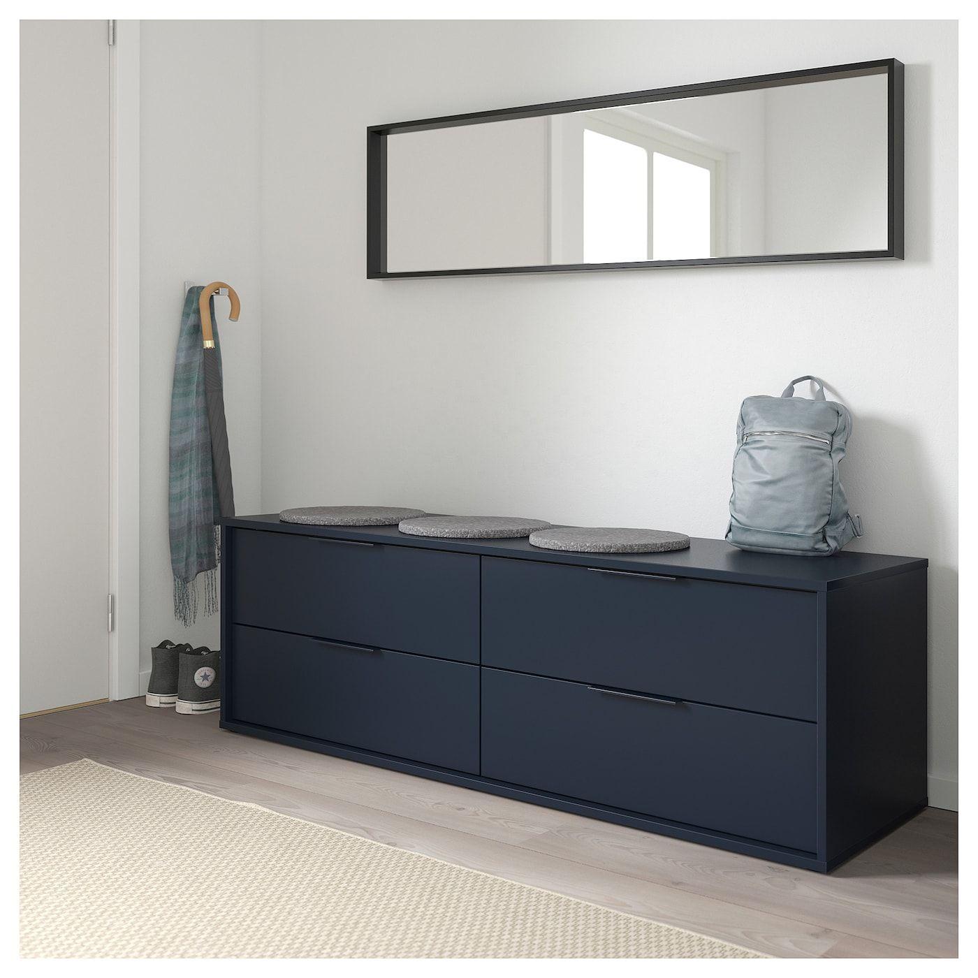 Nordmela 4 Drawer Dresser Black Blue 62 5 8x19 5 8 Wohnung Innenarchitektur Kommode Kommode Schwarz