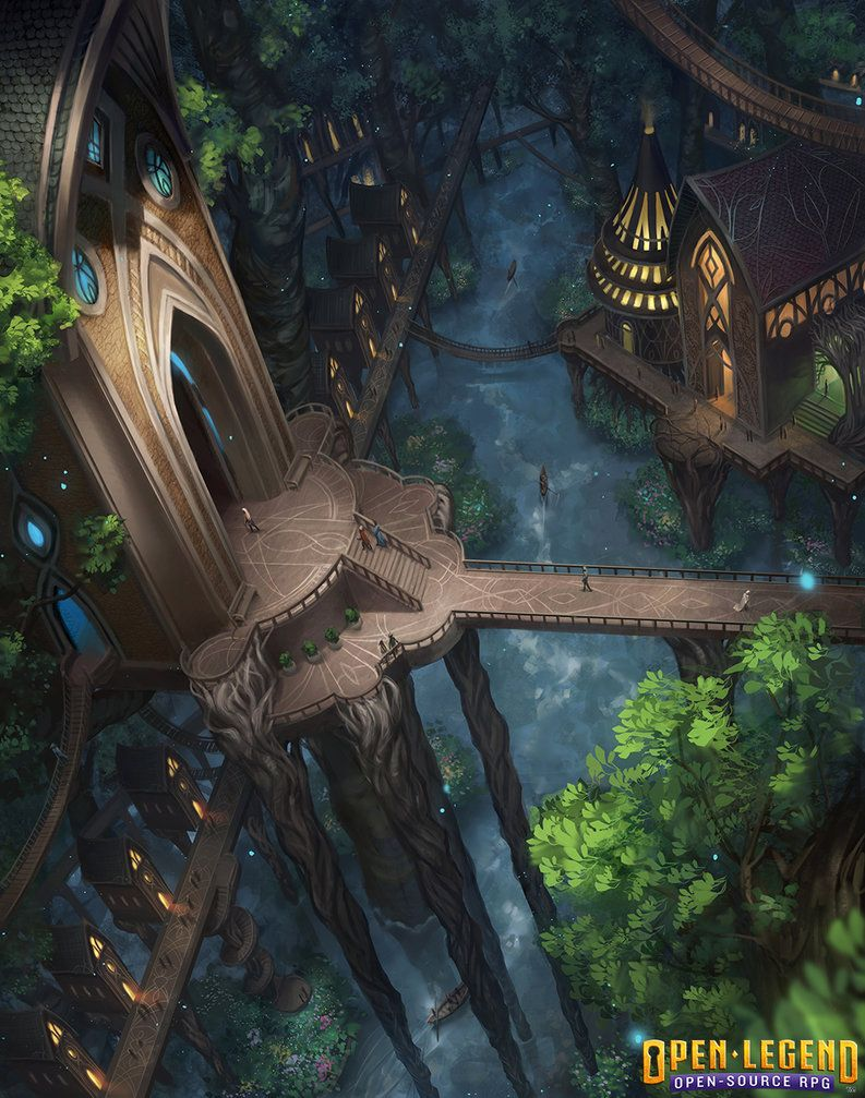 Environment Illustration For Open Legend Rpg Done Early This Year This Was A Challenge As I M Not Very E Fantasy Landscape Fantasy Art Landscapes Fantasy City