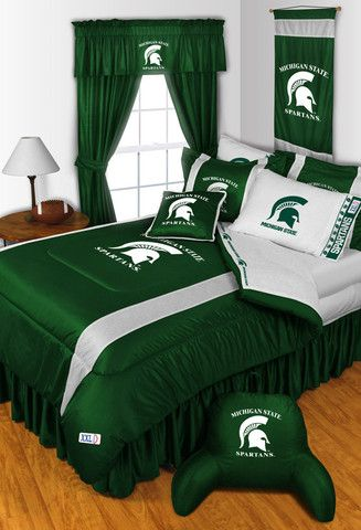 Michigan State Spartans Bed in a Bag With Team Colored Sheets